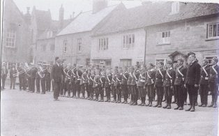 Boys Brigade being inspected