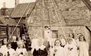 Dorothy Stanley (nee Meadows) at school