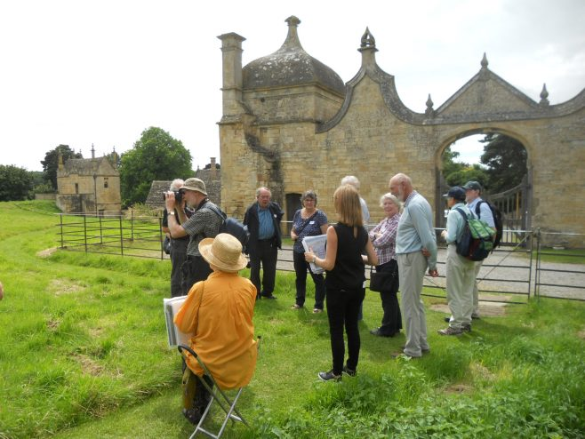 Group viewing the ruins   CCHS