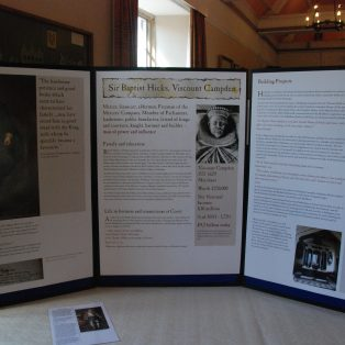 Display boards about Sir Baptist Hicks