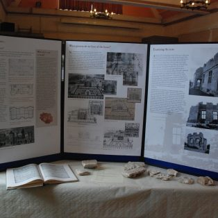 Display panels about Campden House