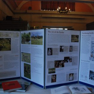 Display panels about the Gardens