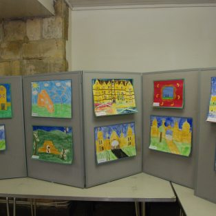 Some of the children's paintings at the exhibition. | Mary Fielding