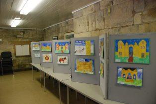 Display by schoolchildren