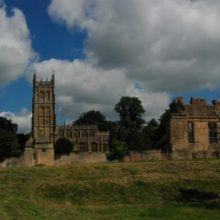 The remains of Campden House with the Church in the background | Mary Fielding