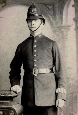 Constable Fred Merriman, who was in Olympic tug of war