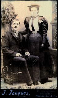 Fred Merriman, with his sister Kezia