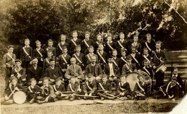 Boys Brigade with their rifles