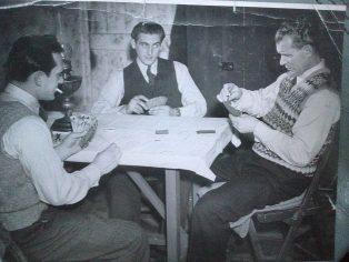 Three men playing cards