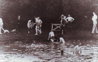 Boys Brigade having fun at the Bathing Lake