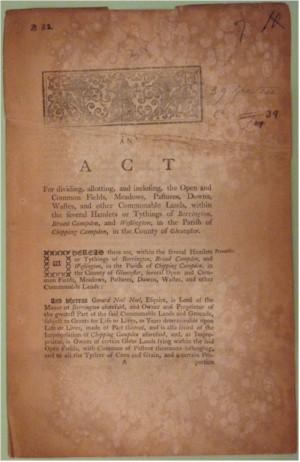 Inclosure Act - original document