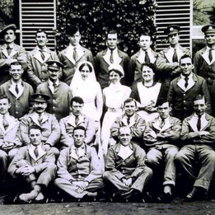 Staff and patients at Norton Hall Hospital