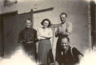 Dorrie Ellis with Rudolf, Herbert and Hans