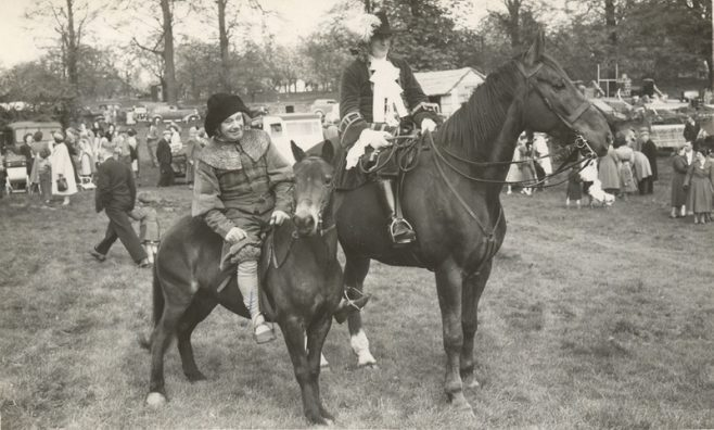 Reg Mansell and Charlie Ladbrook as Robert Dover and Endymion Porter on horseback at Dovers Games | E.J