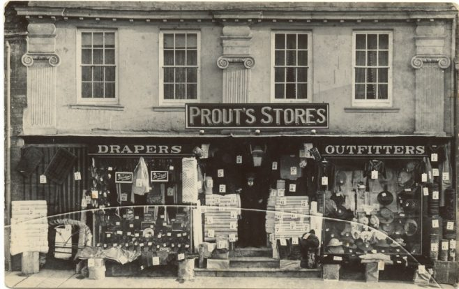 In the 1920s this was Prout's store, selling clothes for the whole family   Jesse Taylor