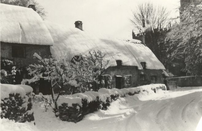 Church Cottages covered in snow