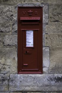 The earliest post box in Campden in the wall of St. Catharine's School