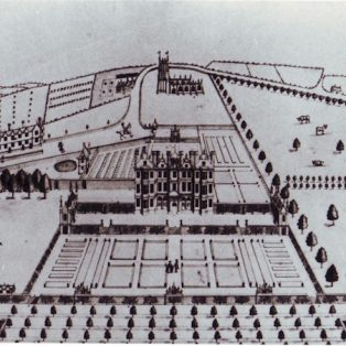 Drawing of Campden House c.1750