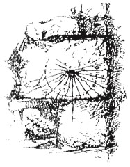 drawing of 'scratch' dial on the Church