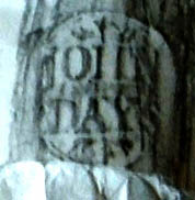 Rubbing from the stem of a clay pipe clearly identifies the maker, John Days