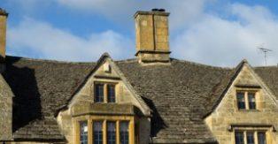 Roof tiles in Campden High Street