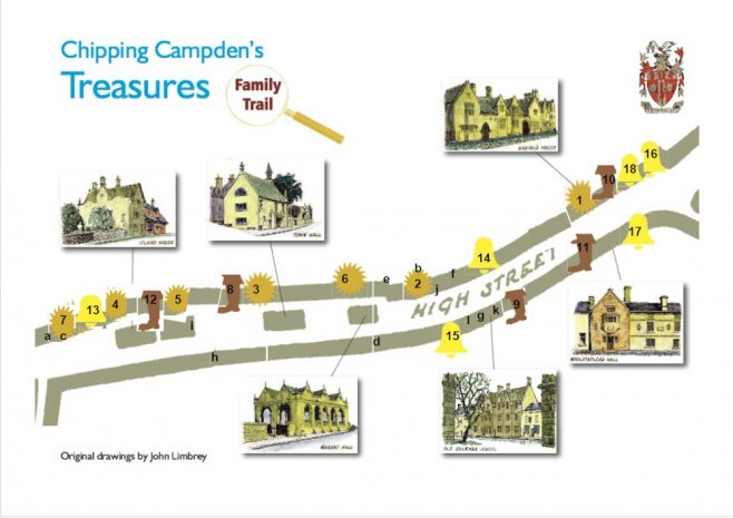 map of answers to the Treasures Trail